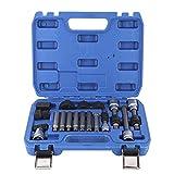 XINMYD Herramienta de extracción de polea, 18Pcs/Set Kit de desmontaje de polea de alternador Herramienta de reparación de Coche