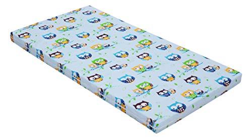 Best For Kids Babymatratze 60x120x6 cm Bezug 100% kuschelweiche Baumwolle (Blau)