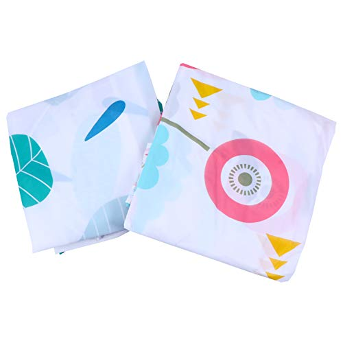 VOSAREA 2pcs Waterproof Quilt Organizers Clothes Storage Bags Wardrobe Storage Bags for Quilt Clothing Blanket Sundries (Colorful B)