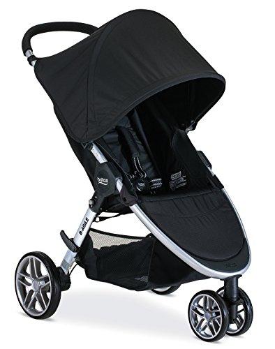 Britax B-Agile Lightweight Stroller, Black | One Hand Fold + Easy to Maneuver + Large UV50+ Canopy