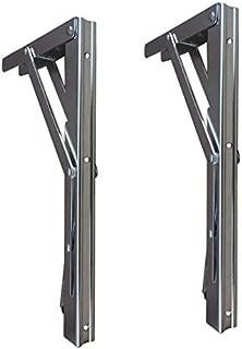 Folding Shelf Bracket - Bench Table Folding Shelf or Bracket, Max. Load 330lbs ( long release handle), (Sold In Pairs)