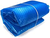 VIZIONSTAR 7'x7 Ft Square Spa & Hot Tub Thermal Solar Blanket Cover Heat Retention Blue