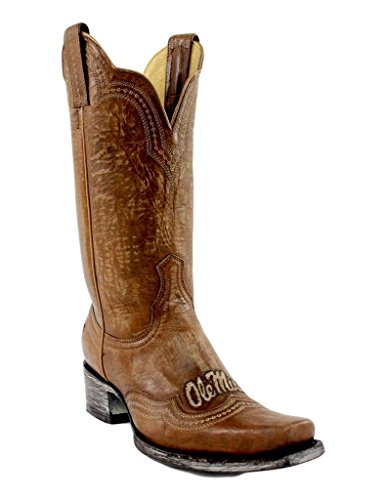 Gameday Boots NCAA Ladies 11 Inch University Boot Mississippi Old Miss Rebels, 8.5 B (M) US, Orix