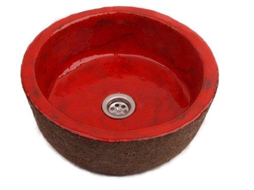 Ida – Lavabo Rouge Élégant, design rustique antique Palazzo Int lavabo