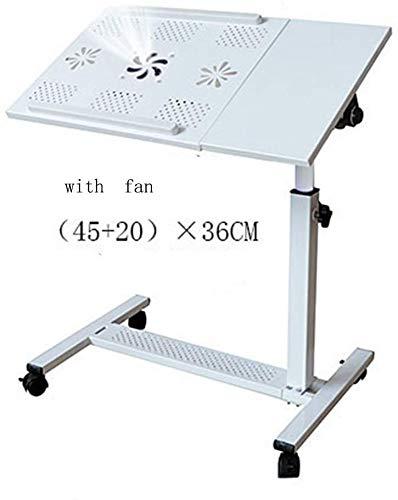 YZjk Höhenverstellbarer Rollschreibtisch Laptop Notebook-Ständer Krankenhaus-Ständer mit feststellbaren Rollen (Farbe: Schwarz)