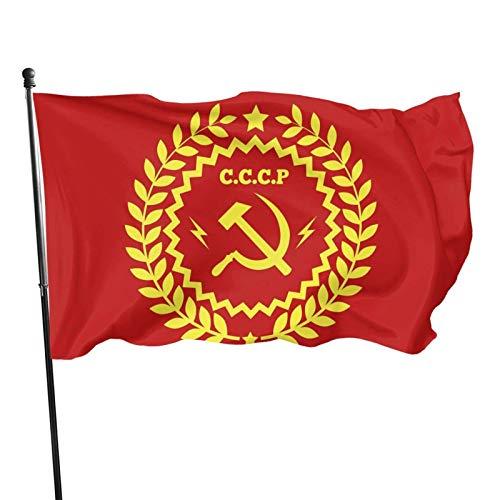 Hdadwy, bandiera del comunismo con martello e falce per giardino, giardino, balcone, decorazione esterna