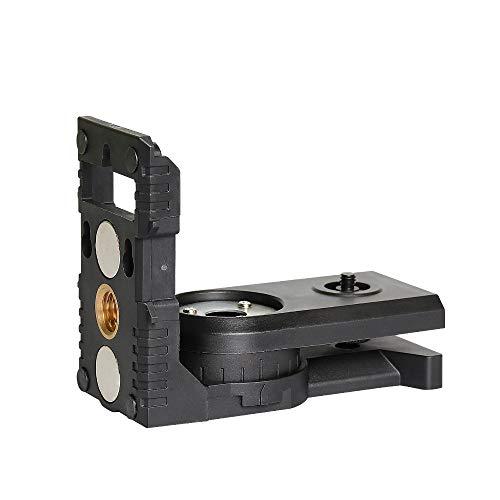 """Huepar PV3 Supporto per Livella Laser, Base Girevole Magnetica Multifunzione, Staffa Regolabile a 180°, Laser Level Adapter con Filettatura maschio 1/4\""""-20, Filettatura Femmina 1/4\""""-20 e 5/8\""""-11"""