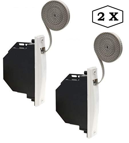 Recogedor cinta para persiana, ancho cinta 20 mm, en color blanco, 2 unidades