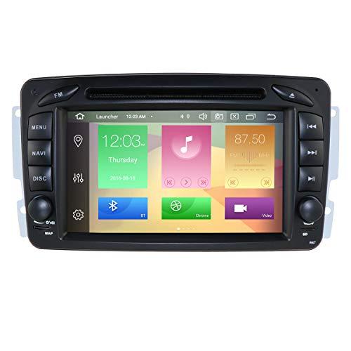 hizpo Reproductor de DVD estéreo para coche (Android 9.0, 7 pulgadas, RAM de radio de coche, 4 G ROM, 64 G, navegación GPS, para Mercedes-Benz C-W209, C-W203, A-W168, G-W463, CLK-C209, W209)