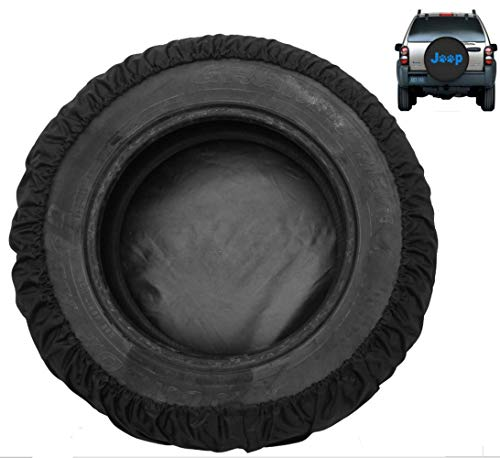 Moonet Spare Tire Cover Canvas Car Truck SUV Camper for Liberty Wrangler Commander Compass Grand Cherokee Size M R15 235/65R17 255/65R16 215/70R16 235/75R15 245/70R15 (Diameter 28inch-30inch)