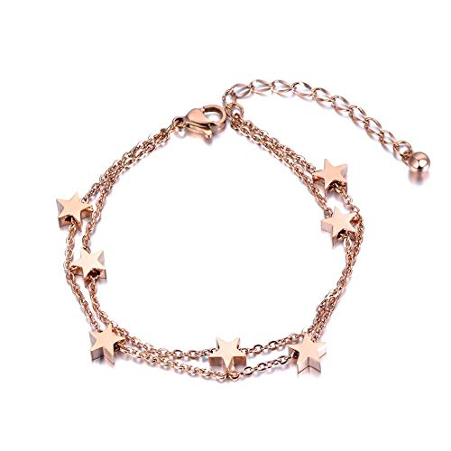 Aldeea ster roestvrij stalen armband armketting dames armband armbanden armbanden incl. Cadeaubox roségoud