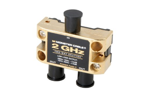 Two Gigahertz Low-Loss RF Splitters for TV and Satellite MKII - 2 Way 2...