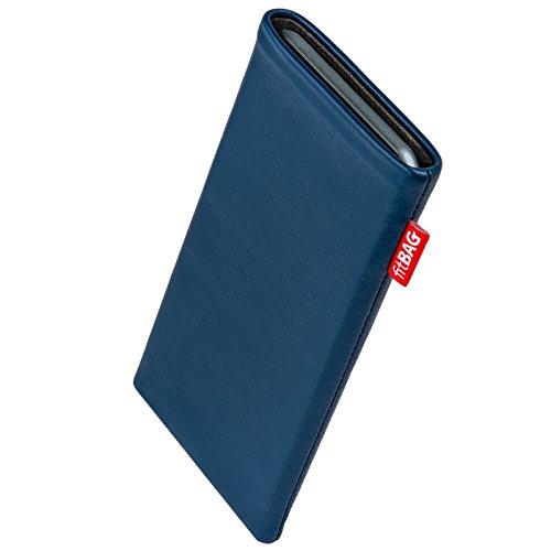 fitBAG Beat Royalblau Handytasche Tasche aus Echtleder Nappa mit Microfaserinnenfutter für Carbon 1 MKII | Hülle mit Reinigungsfunktion | Made in Germany