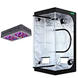 """VIPARSPECTRA 36""""x36""""x72"""" Mylar Hydroponic Grow Tent + UL Certified 300W LED Grow Light for Indoor Plant Growing and Flowering"""