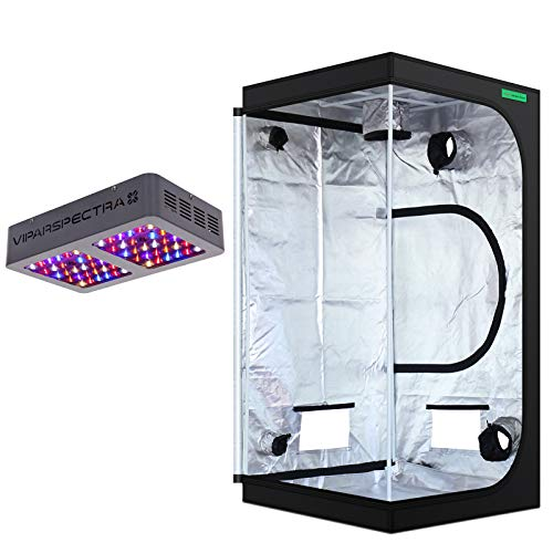 """VIPARSPECTRA 36""""x36""""x72"""" Mylar Hydroponic Grow Tent + UL Certified 300W LED Grow Light Complete Kit for Indoor Plant Growing"""