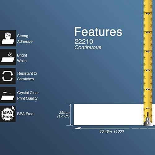 BETCKEY Compatible Etiqueta Continua Reemplazo para hermano DK-22210, 29mm x 30.48m, para Impresoras de Etiquetas Brother QL, [10 Rollos]