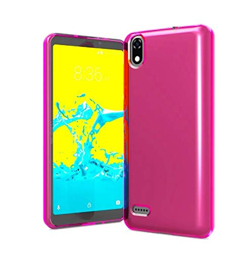 TPU Flexible Skin Protective Case Phone Cover for ZTE Avid 559 + Gift Stand (Pink)