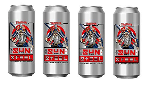 4 Dosen Iron Maiden Sun and Steel Sake Lager a 0.5 l 4,8% Vol. in Dosen inc. 1.00€ EINWEG Pfand