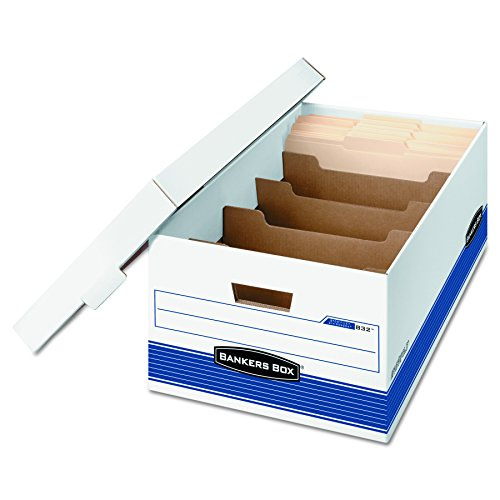 Bankers Box DIVIDERBOX Medium-Duty Storage Boxes with Dividers FastFold Lift-Off Lid Legal Case of 12 0083201