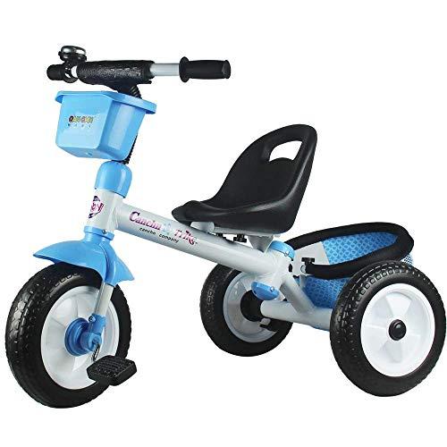 GWCD-STC Triciclos Trikes para niños 12 Meses a 6 años Triciclo para niños Asiento Acolchado Agradable Rueda Trasera con Freno Trike para niños Peso máximo 30 Kg Sillas de Paseo (Color : C)