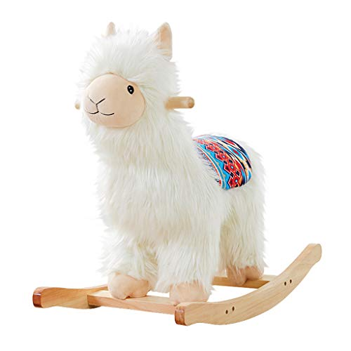 Children Rocking Horse Baby Birthday Gift Cartoon Alpaca Trojan Horse Rocking Chair Baby Toy