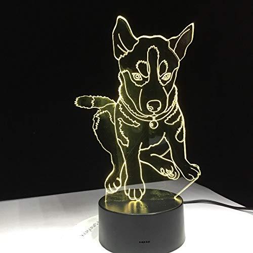 Husky Hund Lichtfarbe Beleuchtung Kinder Nachttisch Tisch Schreibtisch Form Umwandlung Nachtlicht Dekoration Geschenk