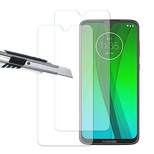 THILIVE Motorola Moto G7/G7 Plus Panzerglas, Bildschirmschutzfolie panzerfolie, Folie gehärtetem Glas,9H Festigkeit,Kratzfest,Glasfolie Glas Schutzfolie für Motorola Moto G7/G7 Plus (2 Stück)-klare