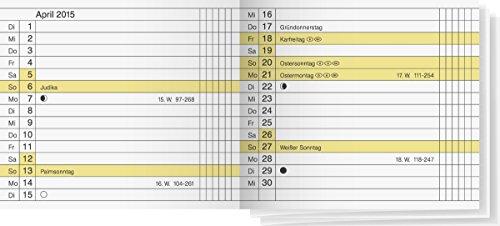Rido/idé 7045130funda/plegable Calendario microplaner Calendario de repuesto, 2páginas = 1mes, 87x 77mm, kalendarium 2019