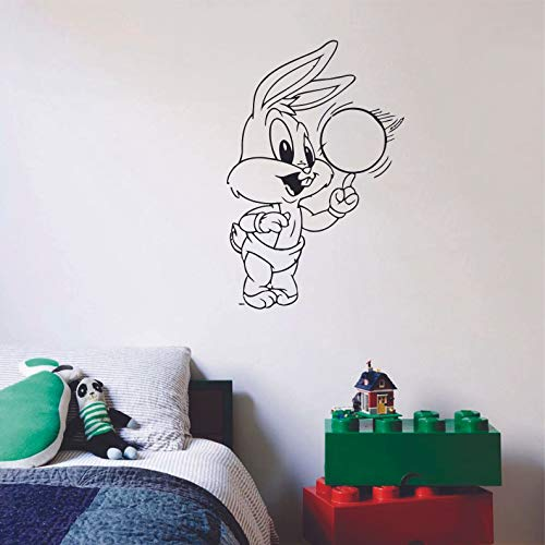 Looney Tunes Baby Bugs Bunny Ball Children Cartoon Wall Sticker Art Decal for Girls Boys Room Bedroom Nursery Kindergarten House Fun Home Decor Stickers Wall Art Vinyl Decoration Size (20x18 inch)