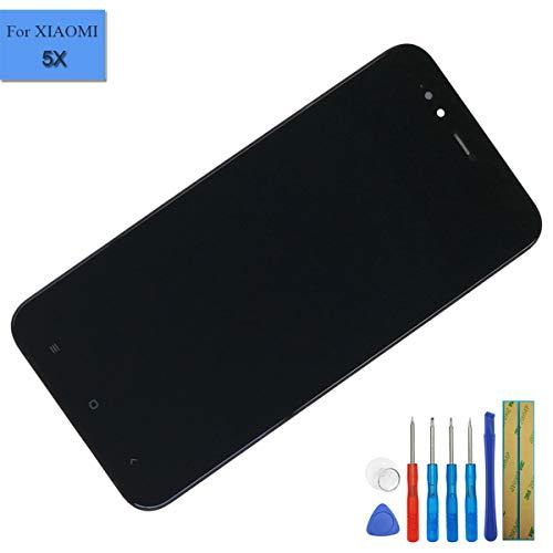Pantalla táctil LCD compatible con Xiaomi Mi5X / Mi 5X / MiA1 / Mi A1 / Mi A1 LCD de montaje completo negro con marco + herramientas