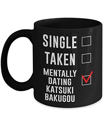 N\A Taza de caf de Katsuki Bakugou con Citas mentales de una Sola Toma, 11 oz, Divertida Taza de Amante de Disfraz de Cosplay de Katsuki Bakugou, Regalo Ideal para Boku no Hero ACA