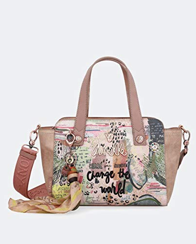 Anekke Bolso Shopping peq Jungla Letras