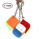 RUIGIN Geschwindigkeits-Würfel-Set, Mini Puzzle Magic Cube Twist Denksportaufgaben IQ Spielzeug Schlüsselanhänger Kinder-Bildungs-Spielzeug für Weihnachten Geburtstag, 3PCS