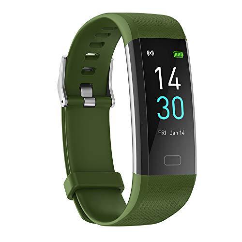 Reloj inteligente, monitor de temperatura, monitor de temperatura, reloj de fitness con alta resistencia al agua, hasta 45 días de duración de la batería, análisis del sueño.