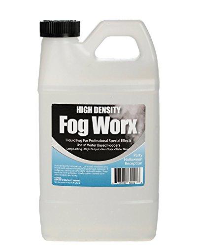 FogWorx Extreme High Density Fog Juice - Long Lasting, High Output, Water Based Fog Machine Fluid - Half Gallon, 64oz