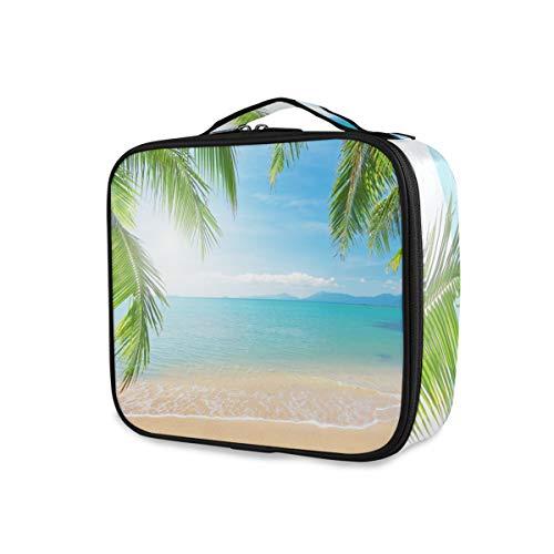 Sea Ocean Palm Et Tropical Beach Travel Trousse De Toilette Outils Cosmétique Train Case Maquillage Sac Filles De Stockage Portable