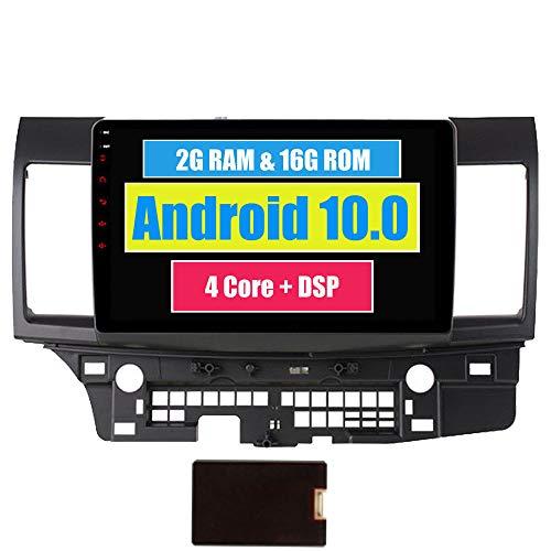 RoverOne Android 7.1 Système de navigation GPS de voiture pour Mitsubishi Lancer 10 EVO GaLant Fortis Ispira X avec Autoradio Radio Stéréo Bluetooth HDMI Miroir Lien Quad Core Système multimédia