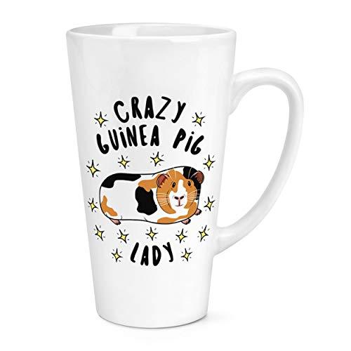 Crazy Cochon D'Inde Lady Étoiles 17oz Large Latte Tasse Mug