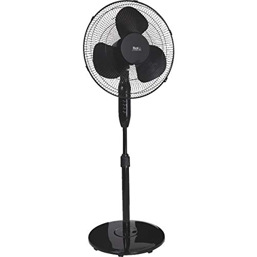 SIM SUPPLY Best Comfort 16 in. 3-Speed Extends to 49 in. H. Black Oscillating Pedestal Fan - 1 Each