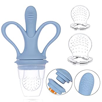 Baby Fruit Feeder Banana Mesh Pacifier Infant Toddler Fresh Food Babies More Than 3 Months Feeding Eating Supplies Silicone Teething Toys Removable with Storage Box