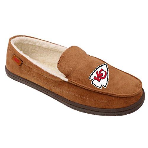 Kansas City Chiefs NFL Mens Exclusive Beige Moccasin - XL