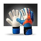 GAOJINXIURZ Guantes de fútbol con calefacción, guantes de portero de fútbol para niños, guantes de portero de fútbol profesional, protección para niños, guantes de portero (color: azul, tamaño: 6)