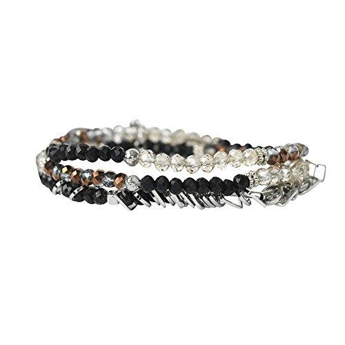 THE MOSHI Inez Armband elastisch dreiteilig schwarz/Kupfer/Silber