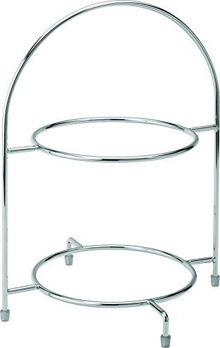 UTOPIA staat om f912020000, chroom, 2 etages taartplaat 31,8 cm (32 cm) te houden 2 x 23 cm borden (box van 1)