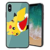 for iPhone7 Plus & iPhone8 Plus, Pocket Monsters 698 Design Tempered Glass Phone Case, Anti-Scratch Soft Silicone Bumper Ultra-Thin iPhone7 & 8 Plus Cover for Teens and Adults