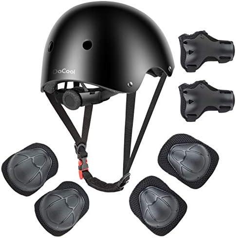 DaCool Kids Helmet Pad Set Elbow Knee Wrist Pads for Sports Adjustable Safety Set for Kids 3 product image
