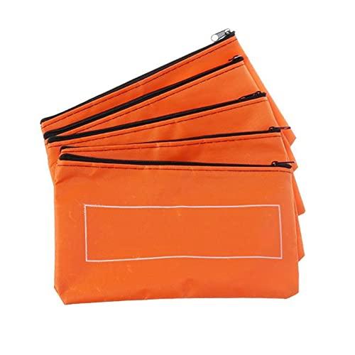 Caja de Herramientas Pequeña bolsa de herramientas Organizador portátil con cremallera herramienta Oxford Paño Herramienta bolsa Hardware Toolkits de herramientas naranja Bolsa de almacenamiento 5pcs