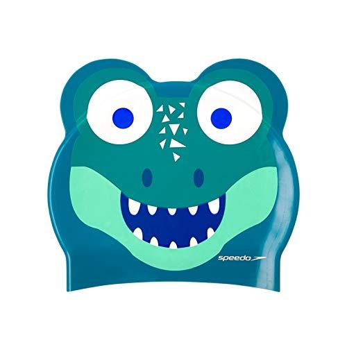 Speedo Unisex-Adult Badekappe mit Motivdruck, Cosmos/Smaragd/Aqua Mint, Einheitsgröße