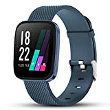 READ Smartwatch Reloj Inteligente Impermeable Hombre Mujer con Contador de Pasos del podómetro del Monitor de frecuencia cardíaca, Reloj de Fitness para Android iOS Samsung Huawei