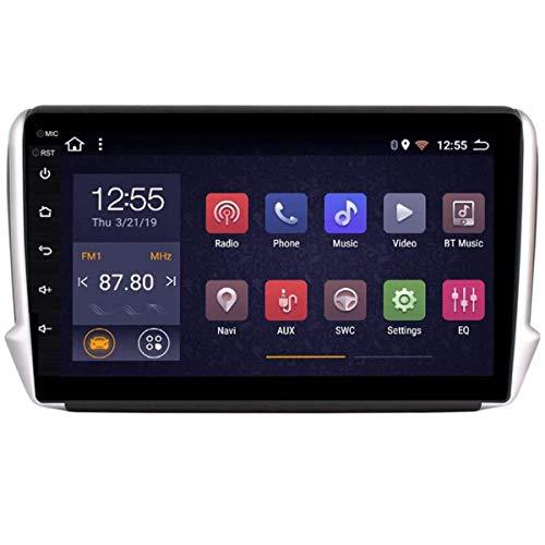 HHttM Android 8.1 Autoradio per Peugeot 2008 208 2014-2018 Autoradio Navigazione GPS 9pollici Touch Display Supporto per Lettore Multimediale per Auto Specchio per Schermo WiFi Bluetooth